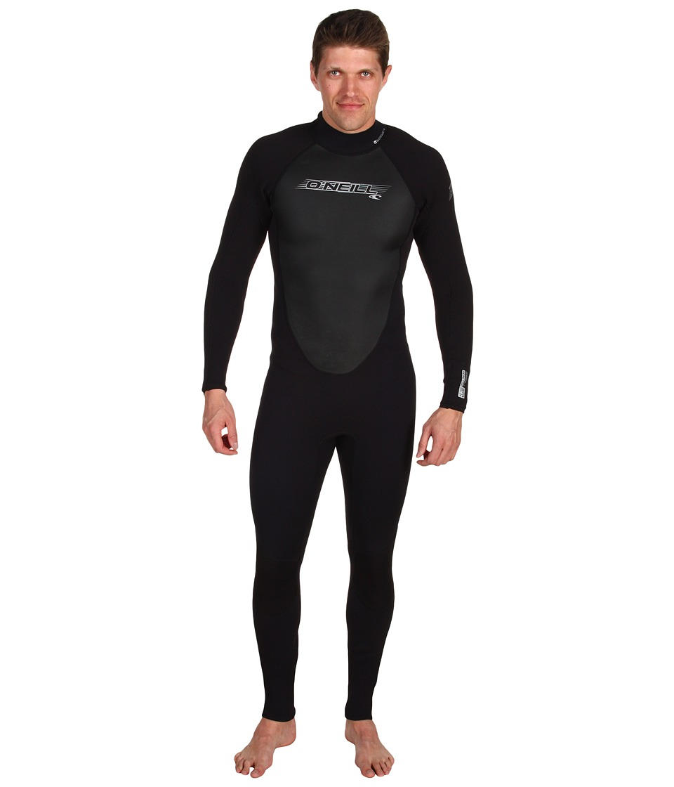 ONeill - Reactor 3/2 Full Wetsuit (Black/Black/Black) Mens Wetsuits One Piece