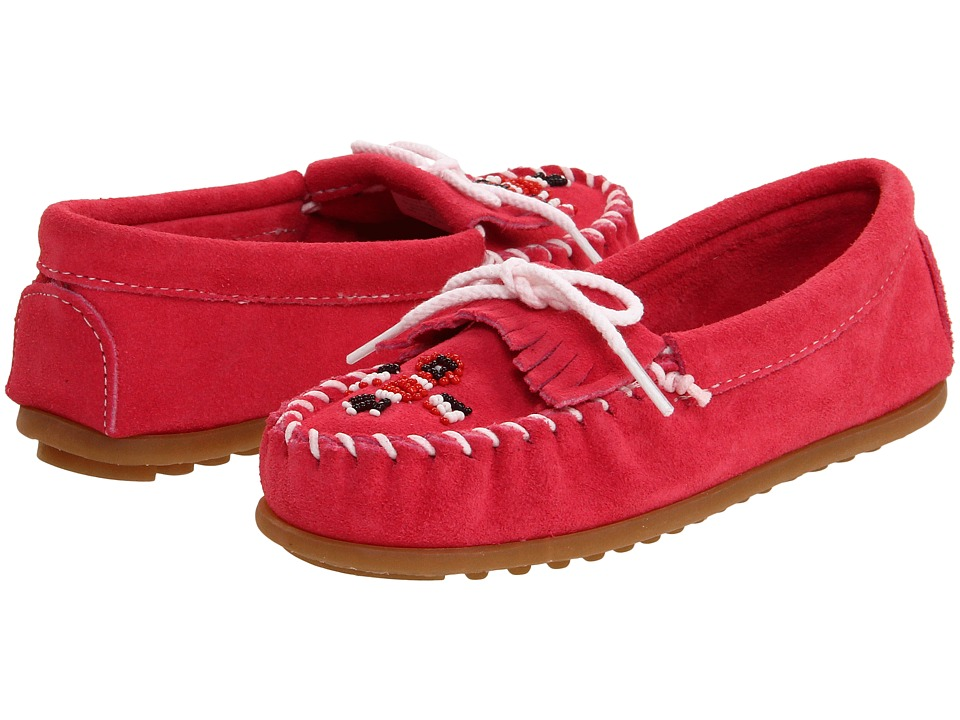 Minnetonka Kids Thunderbird II Toddler/Little Kid Hot Pink Suede Girls Shoes