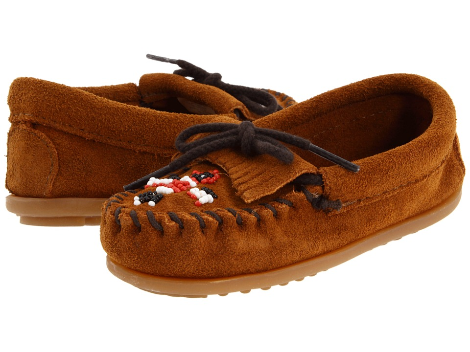 Minnetonka Kids Thunderbird II Toddler/Little Kid Brown Suede Girls Shoes