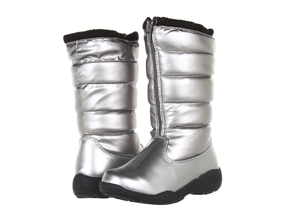 Tundra Boots Kids Puffy Little Kid/Big Kid Silver Girls Shoes