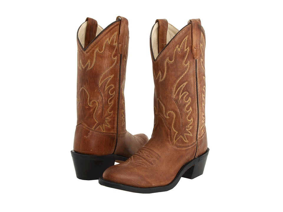 Old West J Toe Western Boot (Big Kid) (Tan Canyon) Cowboy Boots