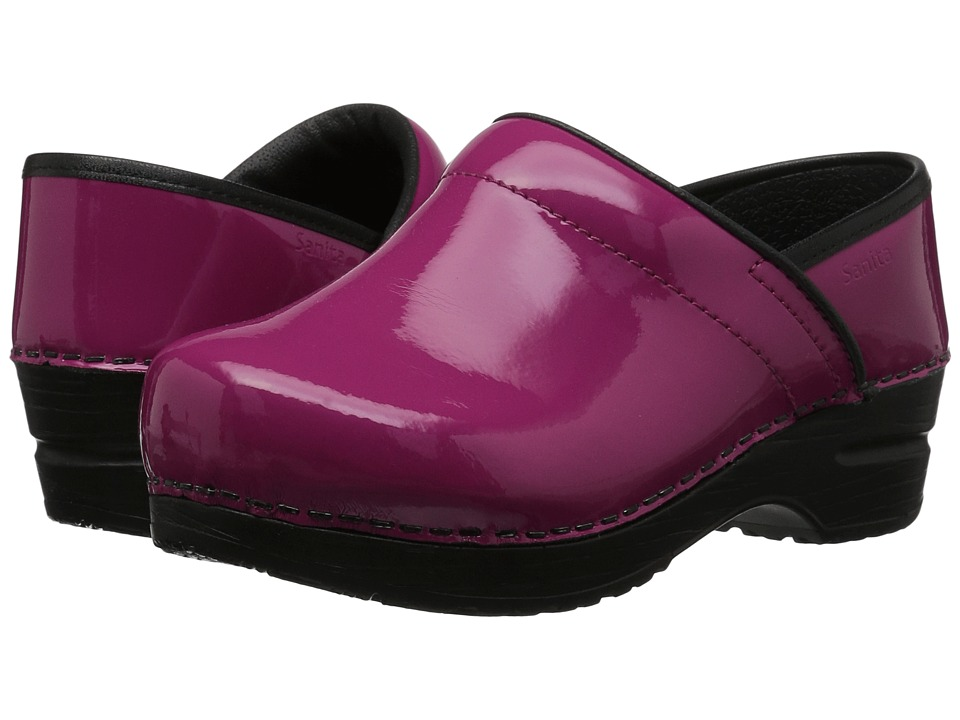 Sanita - Professional Patent (Fuchsia Patent) Womens Clog Shoes
