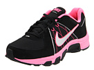 Nike Kids - T-Run 5 (Toddler/Youth) (Black/Laser Pink/White/Metallic Silver) - Footwear