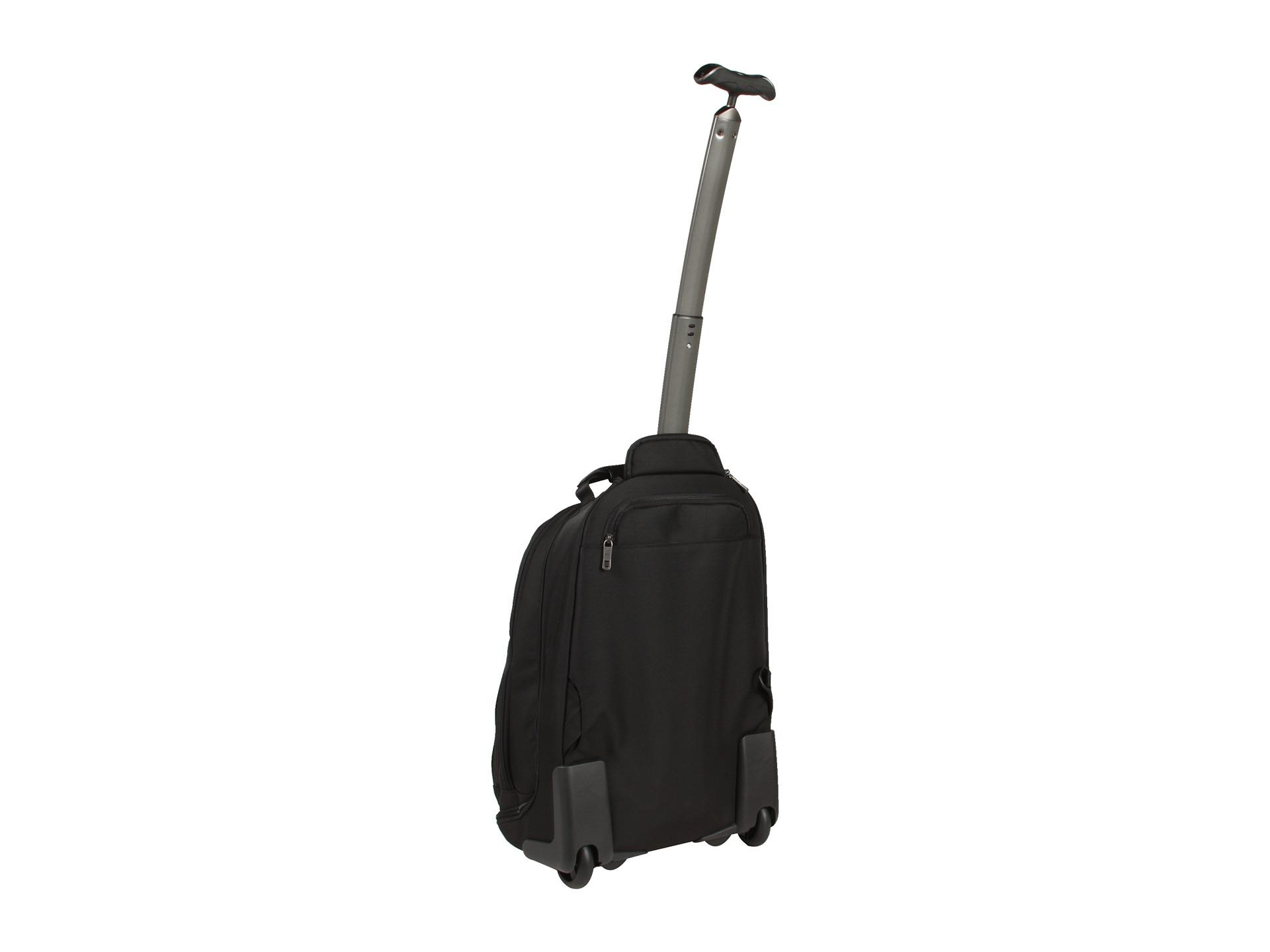 Black Rolling Backpack - Crazy Backpacks