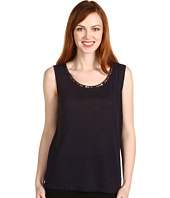 Jones New York - Beaded Jewel Neck Shell