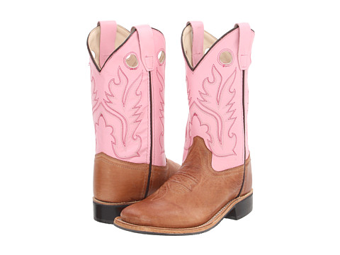 Old West Kids Boots Broad Square Toe Goodyear Welted Boot (Toddler/Little Kid)