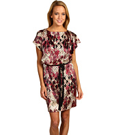 Jessica Simpson - Printed Flutter Sleeve Dress