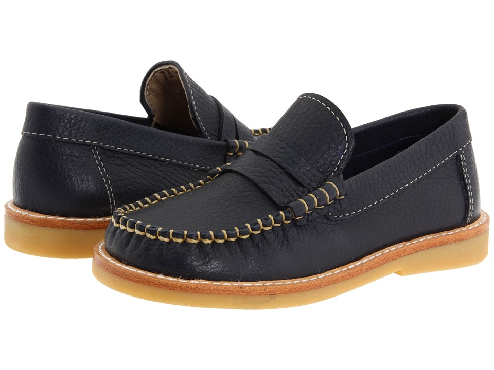 Elephantito Martin Loafer Toddler/Little Kid/Big Kid Navy 2 Boys Shoes