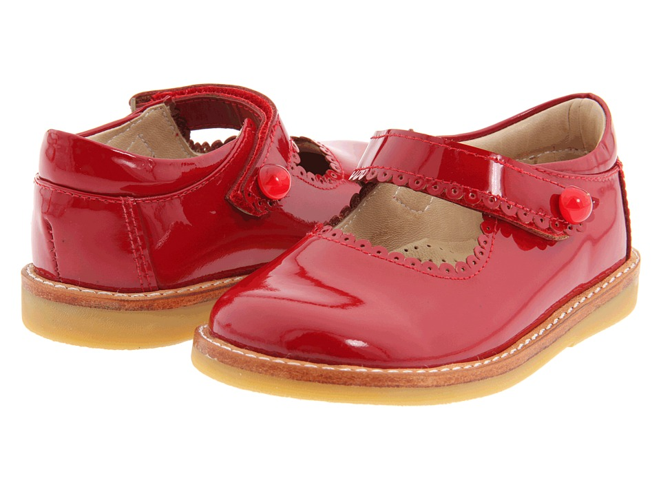 Elephantito - Mary Jane FA11 (Infant/Toddler) (Red Patent) Girls Shoes