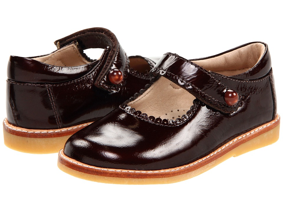 Elephantito Mary Jane Toddler/Little Kid Brown Patent Girls Shoes