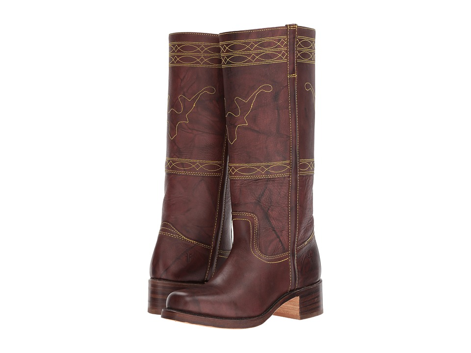 Frye Campus Stitching Horse (Walnut) Western Boots