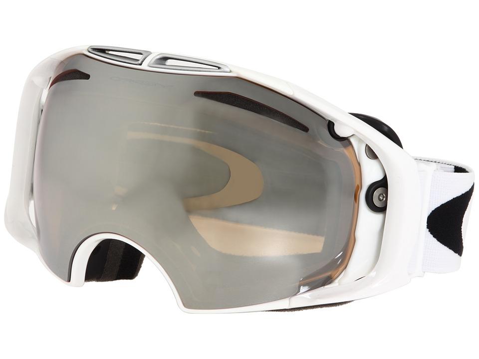 Image of Oakley Airbrake (Polished White/Black Iridium Lens) Snow Goggles