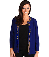 Jones New York - Petite 3/4 Sleeve Beaded Cardigan