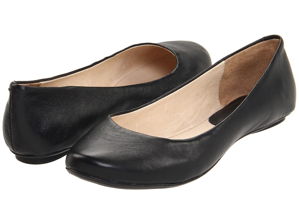 Kenneth Cole Reaction Slip On By (Black Leather) Flats