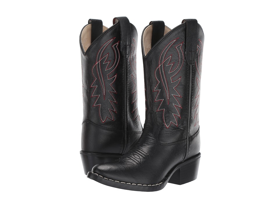 Old West Kids Boots J Toe Western Boot Toddler/Little Kid Black Cowboy Boots