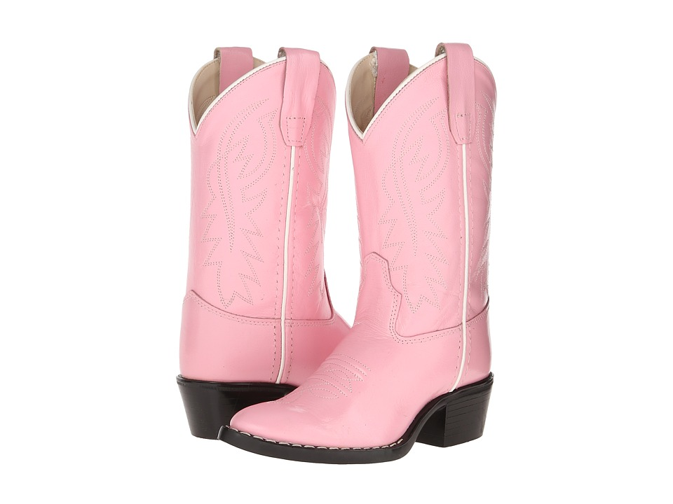 Old West Kids Boots J Toe Western Boot Toddler/Little Kid Pink Cowboy Boots