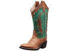 Old West Kids Boots Fashion Western Boot (Toddler/Little Kid) (Tan Canyon/Vintage Turquoise)