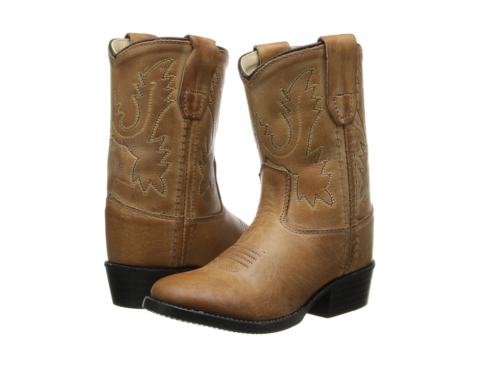 Old West Kids Boots - Western Boot (Toddler) (Tan Canyon) Cowboy Boots