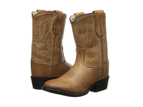 Old West Kids Boots Western Boot (Toddler) - Tan Canyon