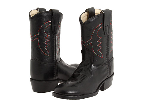 Old West Kids Boots Western Boot (Toddler) - Black