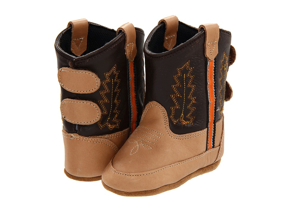 Old West Kids Boots Poppets Infant/Toddler Bazooka/Chocolate Cowboy Boots