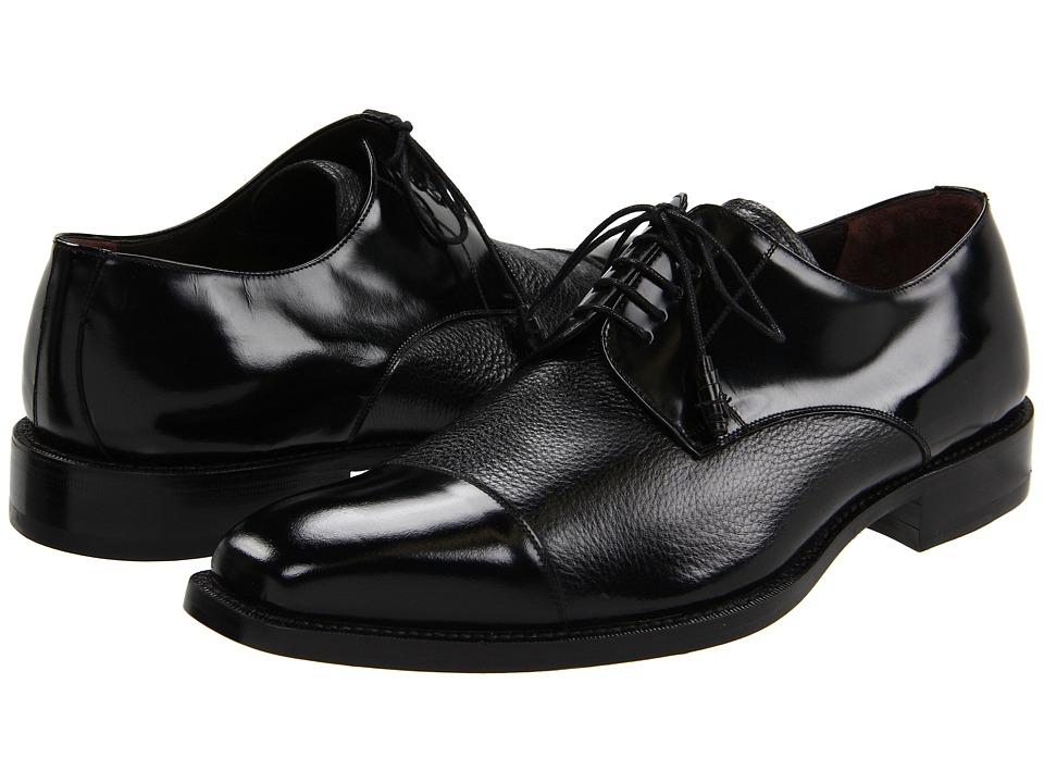 Mezlan - Soka (Black) Mens Lace Up Cap Toe Shoes