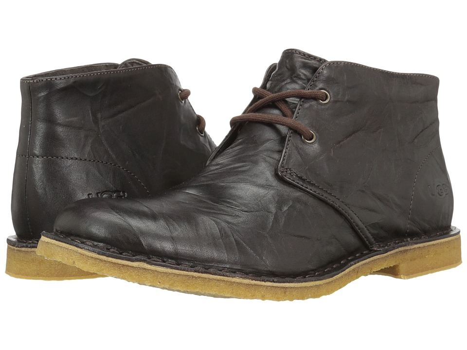 Ugg Leighton (Chocolate Leather) Men's Dress Lace-up Boots