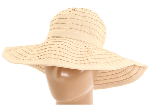 San Diego Hat Company RBL299 Crushable Ribbon Floppy Hat - Beige
