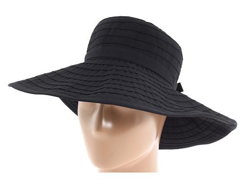 San Diego Hat Company RBL299 Crushable Ribbon Floppy Hat - Black