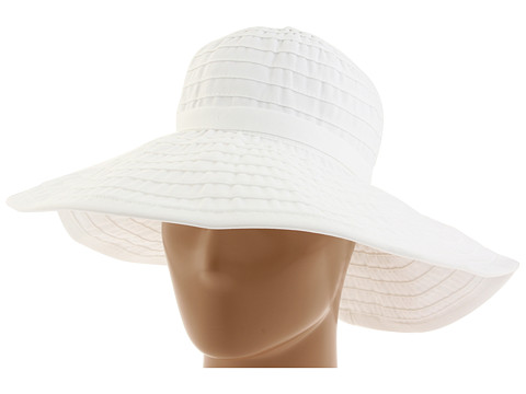 San Diego Hat Company RBL299 Crushable Ribbon Floppy Hat - White