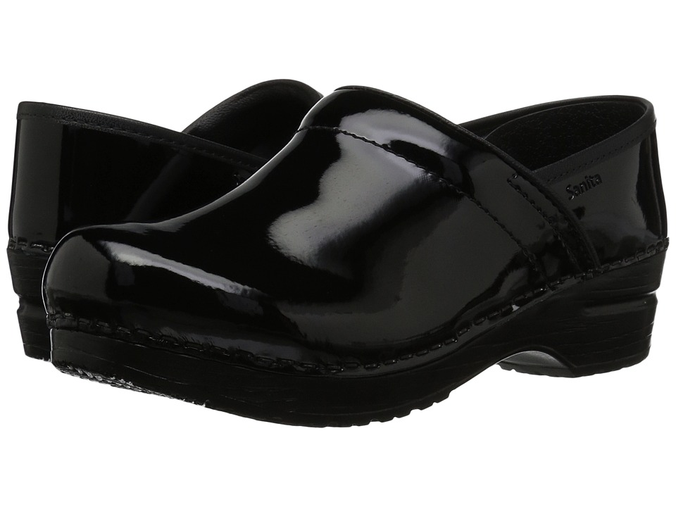 Sanita Professional Patent (Black Patent) Women