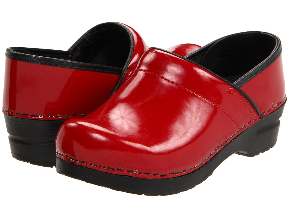 Sanita Professional Patent (Red Patent) Clogs