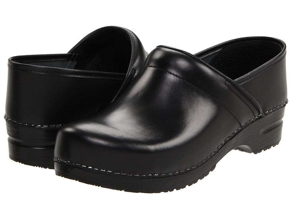 Sanita - Professional Cabrio - Mens (Black Brush Off Leather) Mens Clog Shoes