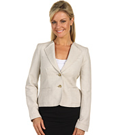 Anne Klein Petite - Petite Novelty Grid 2 Button Blazer