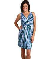 Anne Klein Petite - Petite Abstract Print Side Twist Dress