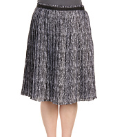Anne Klein Plus - Plus Size Line Print Pleated Skirt