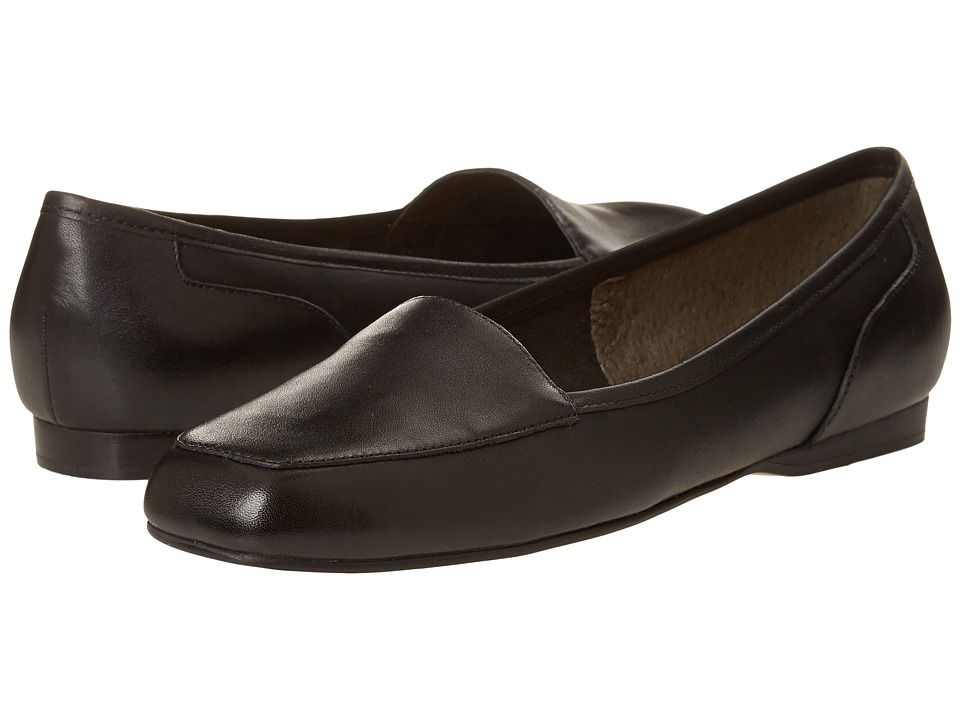 Shop Enzo Angiolini online and buy Enzo Angiolini Liberty Black Leather Women's Flat Shoes - Set yourself free in the darling Enzo Angiolini Liberty flat.Leather upper.Easy slip-on construction.Cushioned footbed for all-day comfort.Synthetic outsole.