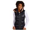 Roper - Faux Fur Hoodie Vest (Black) - Apparel