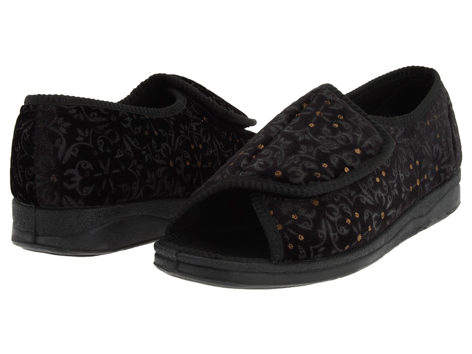 Foamtreads Marla (Black Tapestry) Slippers