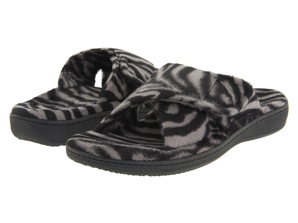 VIONIC Relax (Dark Grey Zebra) Slippers