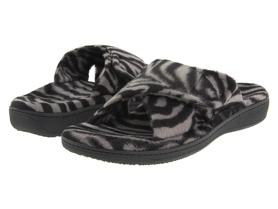 VIONIC Relax Slipper (Dark Grey Zebra) Slippers