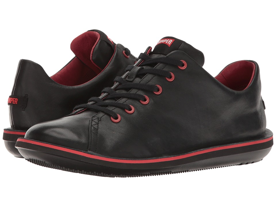 Camper - Beetle Lo-18648 (Black Leather) Mens Lace up casual Shoes