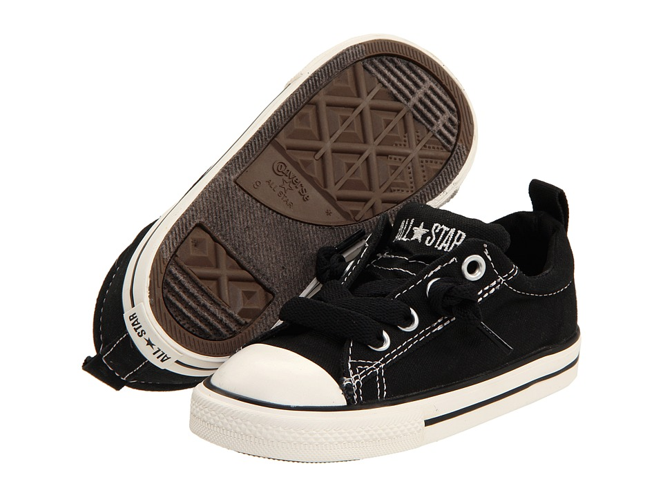 Converse Kids Chuck Taylor All Star Street Ox (Infant/Toddler) (Black/White) Kid