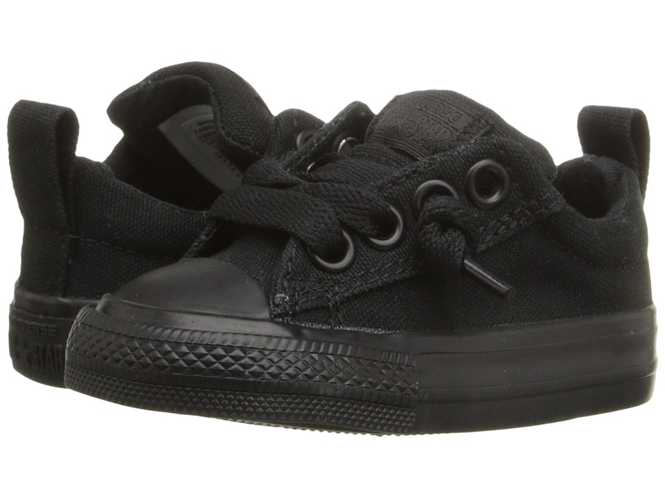Converse Kids Chuck Taylor All Star Street Ox (Infant/Toddler) (Black Monochrome) Kid's Shoes