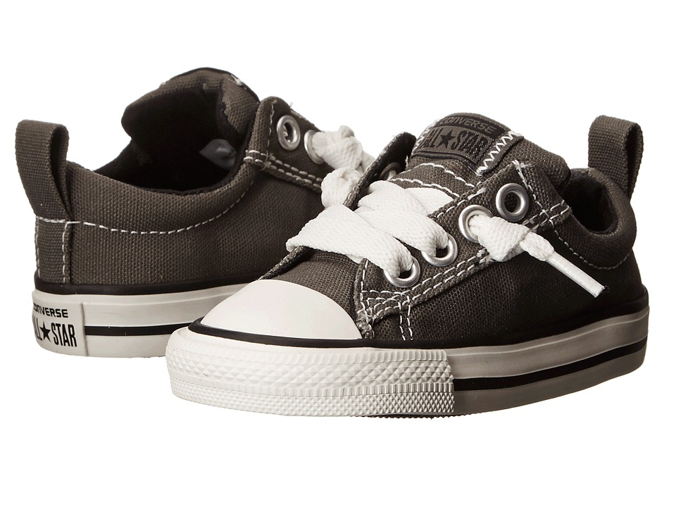 Converse Kids Chuck Taylor All Star Street Ox (Infant/Toddler) (Charcoal) Kid