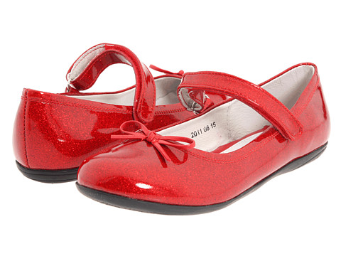 Kid Express Josie (Toddler/Little Kid/Big Kid) - Red Glitter Patent