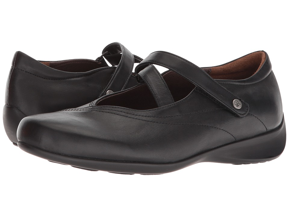 Wolky Passion (Black Smooth Leather) Flats