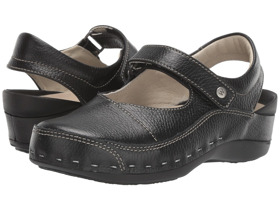 Wolky Strap Cloggy (Black) Clogs