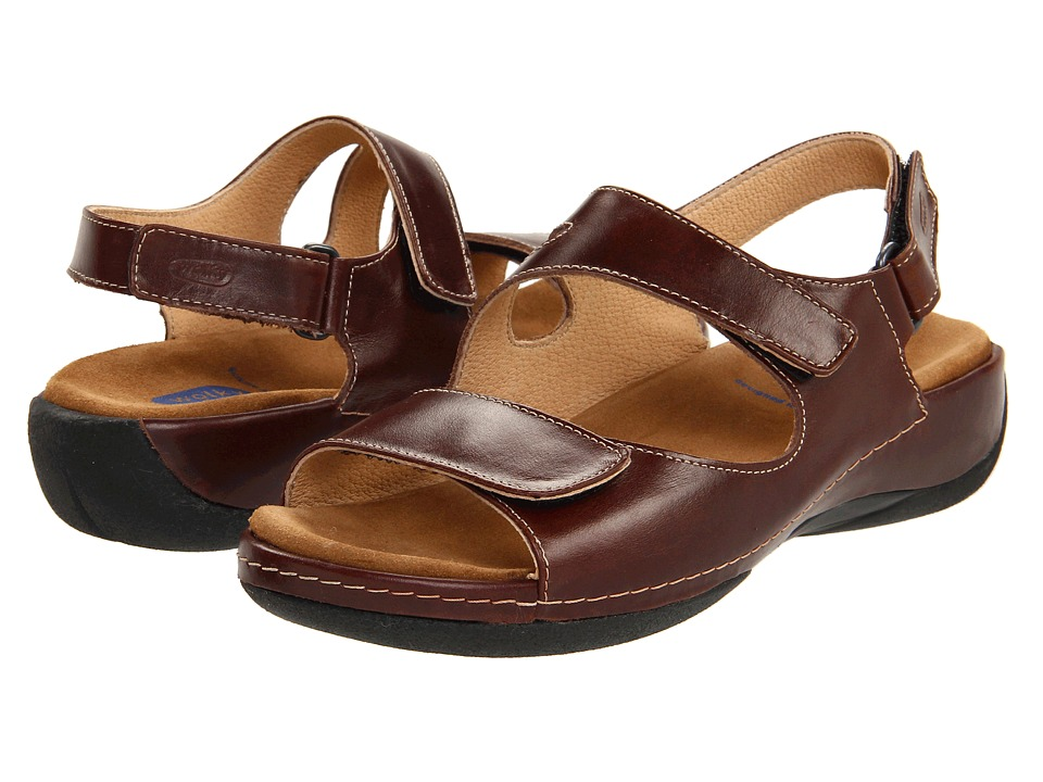 Wolky Liana (Cafe Smooth Leather) Sandals