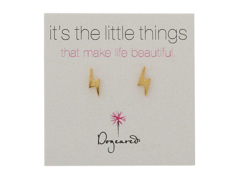 Dogeared It s the Little Things Bolt Studs - Gold Dipped